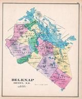 Belknap County, New Hampshire State Atlas 1892 Uncolored
